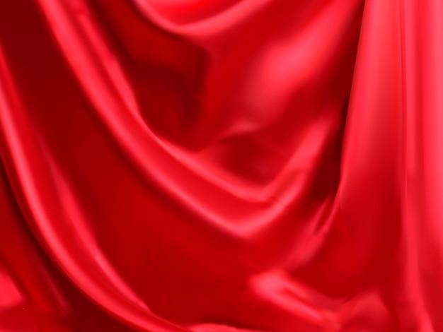Klasyczne czerwone tło satynowe w stylu opadającym