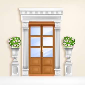 Klasyczne drzwi pałacowe