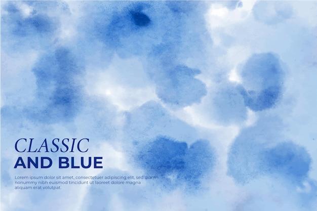 Klasyczne i niebieskie tło z plamami i kroplami