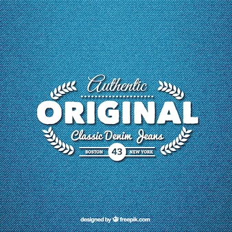Klasyczne jeansy denim logo