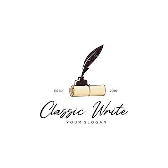 Klasyczne logo do pisania