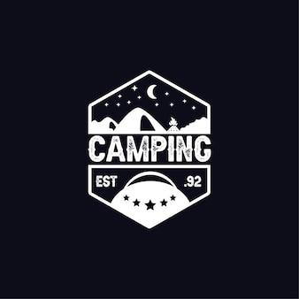 Klasyczne logo kempingowe