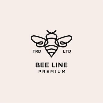 Klasyczne logo premium linii bee