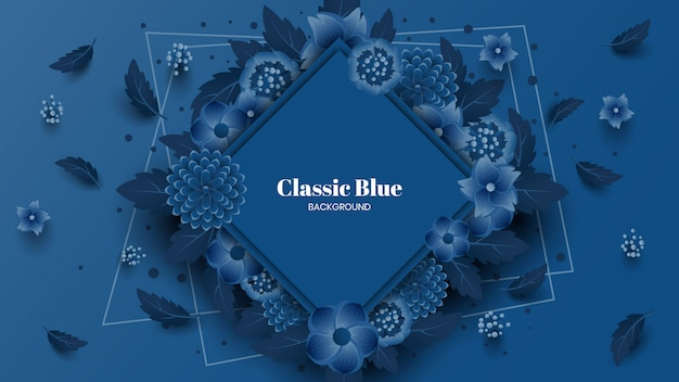 Klasyczne niebieskie kwiaty w tle