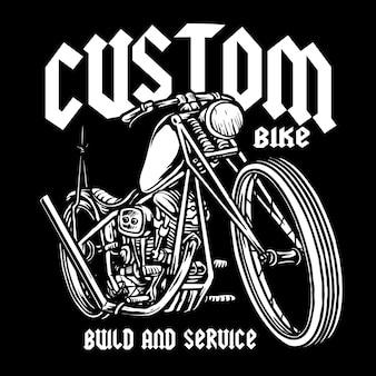 Klasyczne niestandardowe logo motocykla