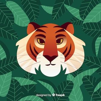 Klasyczne oblicze twarzy tygrysa
