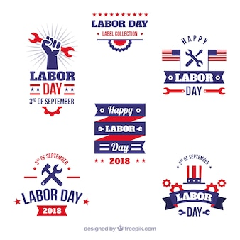 Klasyczne opakowanie odznak pracy dzień z płaskiej konstrukcji