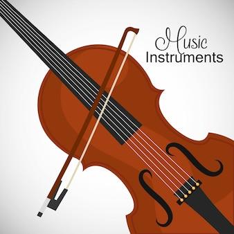 Klasyczne skrzypce z kokardą