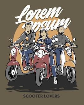 Klasyczni motocykliści