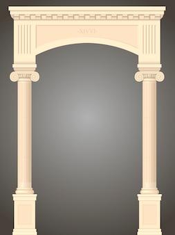 Klasyczny antyczny portal