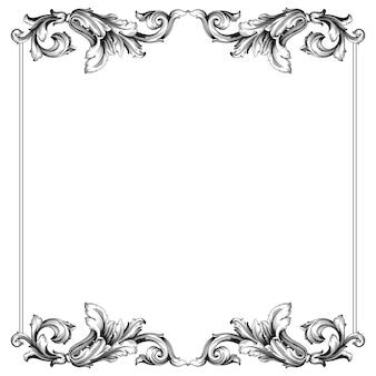 Klasyczny barok vintage. ozdobny element projektu filigranowa kaligrafia.