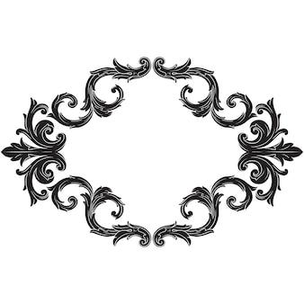 Klasyczny barok vintage w stylu designu. ozdobny element projektu filigranowa kaligrafia.