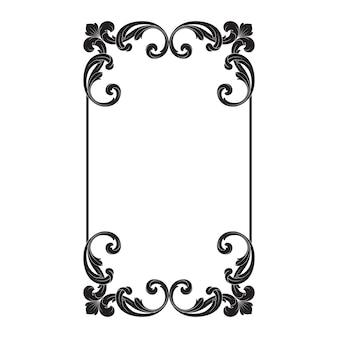 Klasyczny barokowy ornament. ozdobny element projektu filigran.
