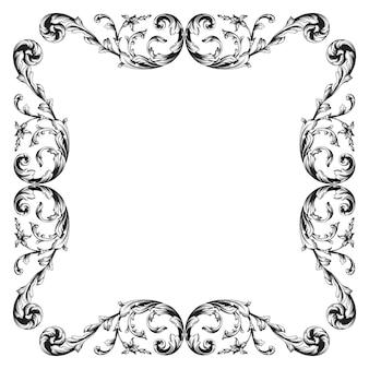 Klasyczny barokowy wektor wzór elementu dla projektu. element dekoracyjny projekt filigran kaligrafia wektor. możesz użyć do dekoracji ślubnej karty z pozdrowieniami i wycinania laserowego.