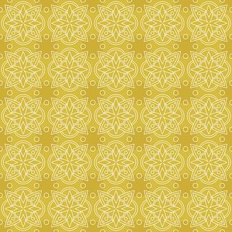 Klasyczny batik bezszwowe tło wzór. tapeta luksusowych liści mandali elegancki tradycyjny motyw kwiatowy