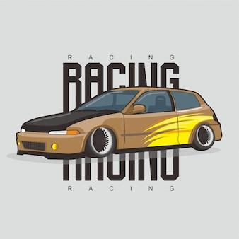 Klasyczny brązowy samochód