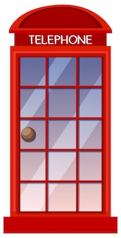 Klasyczny brytyjski czerwony budka telefoniczna