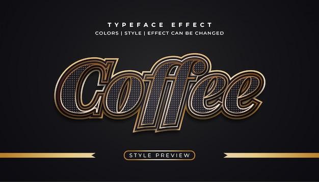 Klasyczny czarny i złoty tekst z efektami tekstury