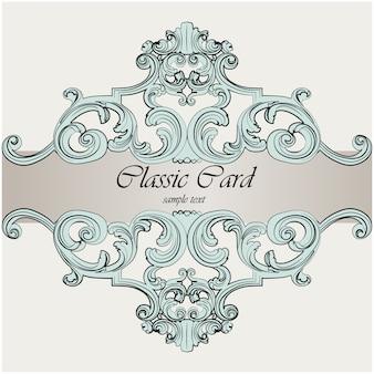 Klasyczny design karty