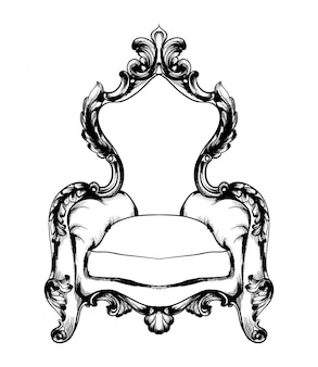 Klasyczny fotel w stylu królewskim
