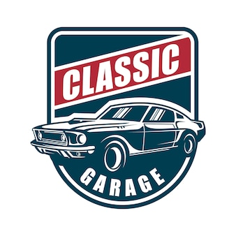 Klasyczny garaż samochodowy
