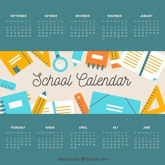 Klasyczny kalendarz szkolny z pięknym stylem