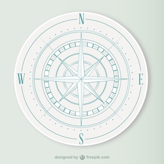 Klasyczny kompas wektor
