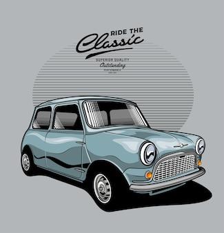 Klasyczny mini samochód