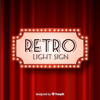 Klasyczny neon znak w stylu retro
