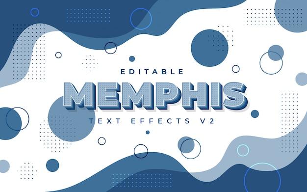 Klasyczny niebieski efekt tekstowy