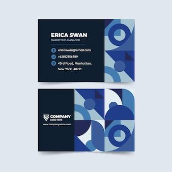 Klasyczny niebieski koncepcja szablonu wizytówki