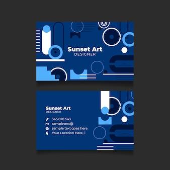 Klasyczny niebieski streszczenie wizytówki szablon