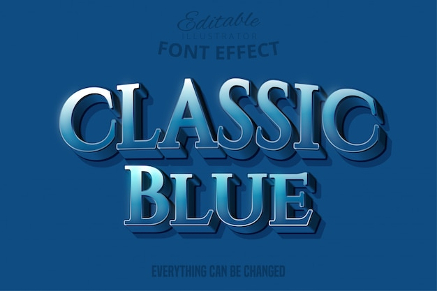 Klasyczny niebieski tekst, edytowalny styl tekstu