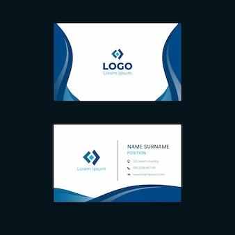 Klasyczny niebieski wizytówki szablon koncepcji