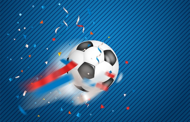 Klasyczny obiekt piłka nożna na białym tle. skórzana piłka do piłki nożnej