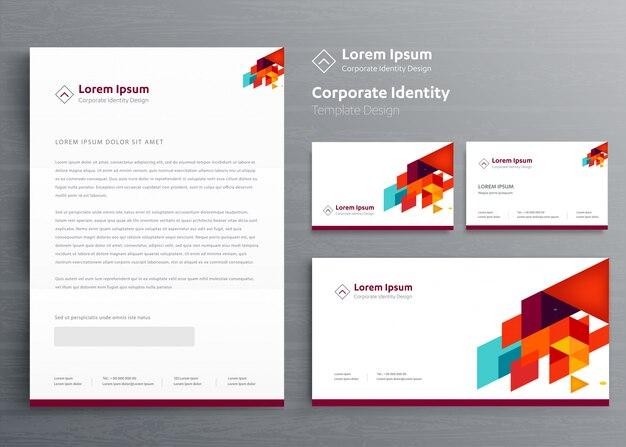 Klasyczny papier firmowy identyfikacja wizualna