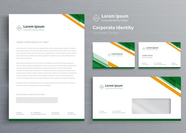 Klasyczny papier firmowy szablon tożsamości korporacyjnej