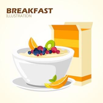 Klasyczny plakat z hotelowym menu śniadaniowym