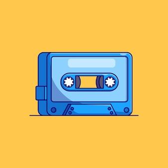 Klasyczny projekt ilustracji wektorowych kasety