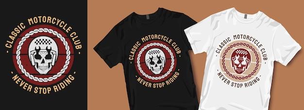 Klasyczny projekt koszulki klubu motocyklowego