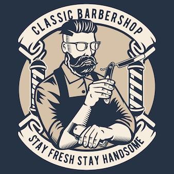 Klasyczny salon fryzjerski