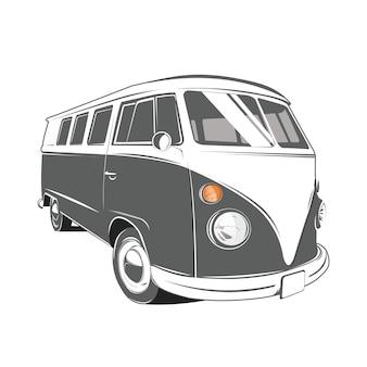 Klasyczny samochód kempingowy w stylu retro