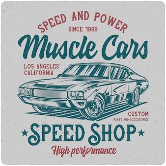 Klasyczny samochód mięśni