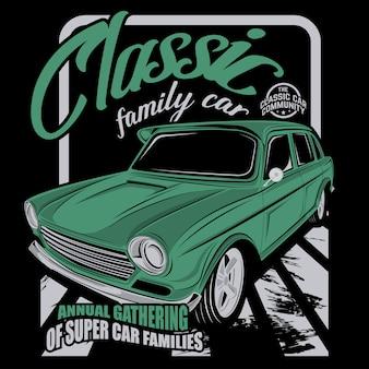 Klasyczny samochód rodzinny