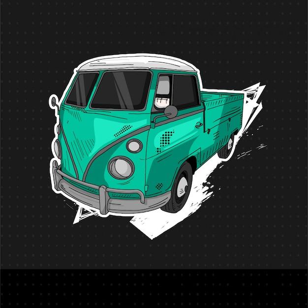 Klasyczny samochód volkswagen 1965