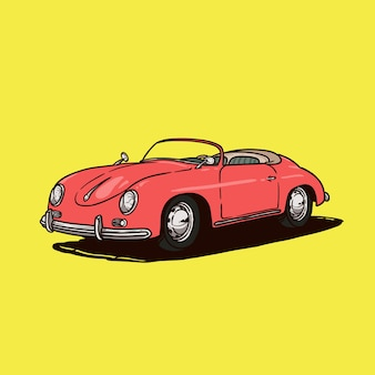 Klasyczny samochód wektor