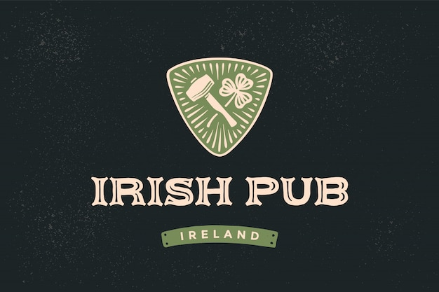 Klasyczny styl retro dla irlandzkiego pubu