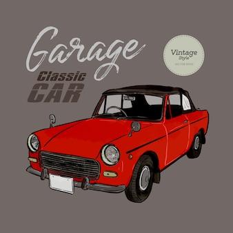 Klasyczny styl vintage samochodu