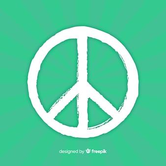Klasyczny symbol pokoju z ręcznie rysowane stylu
