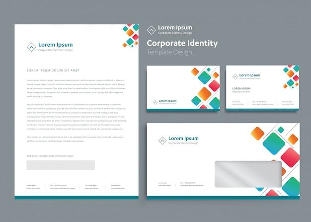 Klasyczny szablon papeterii korporacyjnej tożsamości korporacyjnej